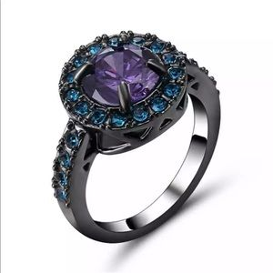 Jewelry - Blue and purple stone ring